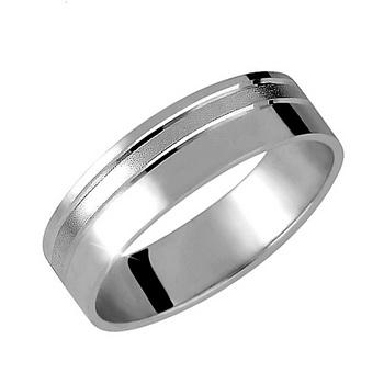 Zlatý snubní prsten č. 360 - 585/4,50g z bílého zlata