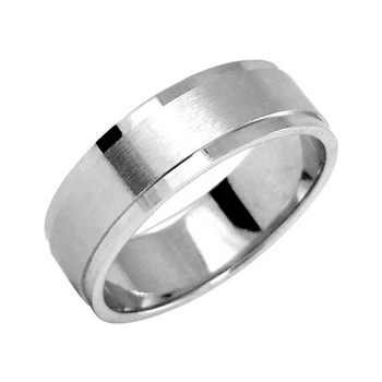 Zlatý snubní prsten č. 361 - 585/5,80g z bílého zlata