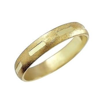 Zlatý snubní prsten č. 364 - 585/2,50g ze žlutého zlata