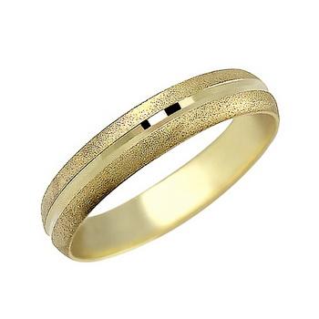 Zlatý snubní prsten č. 365 - 585/2,40g ze žlutého zlata