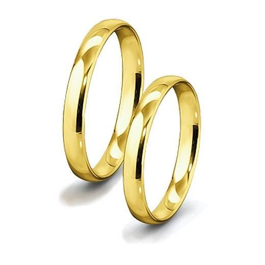 Zlatý snubní prsten GEMS BASIC 585/1000