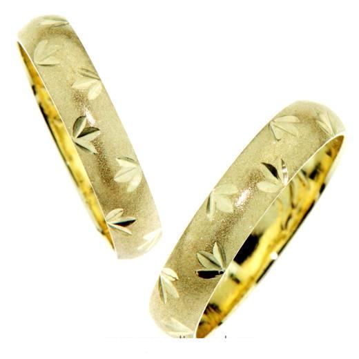 Zlatý snubní prsten matovaný GEMS BASIC 585/1000 - 3,0g