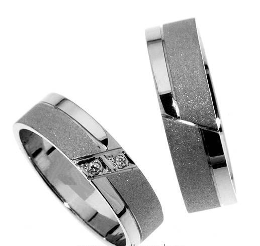 Zlatý snubní prsten Gems Line, 436-0375_0376 z bílého zlata