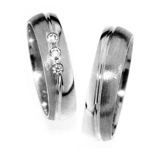 Zlatý snubní prsten Gems Line, 436-0181_0182 z bílého zlata