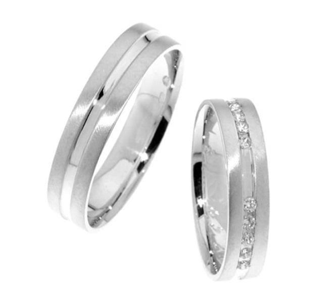 Zlatý snubní prsten Gems Line, 436-0112_0111 z bílého zlata