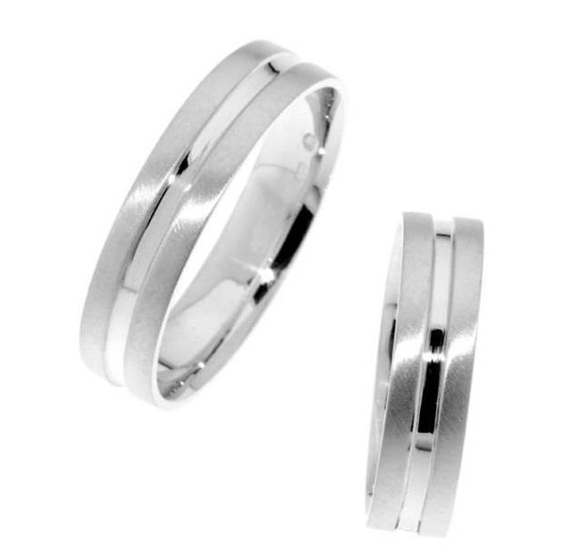Zlatý snubní prsten Gems Line, 436-0112_0112 z bílého zlata