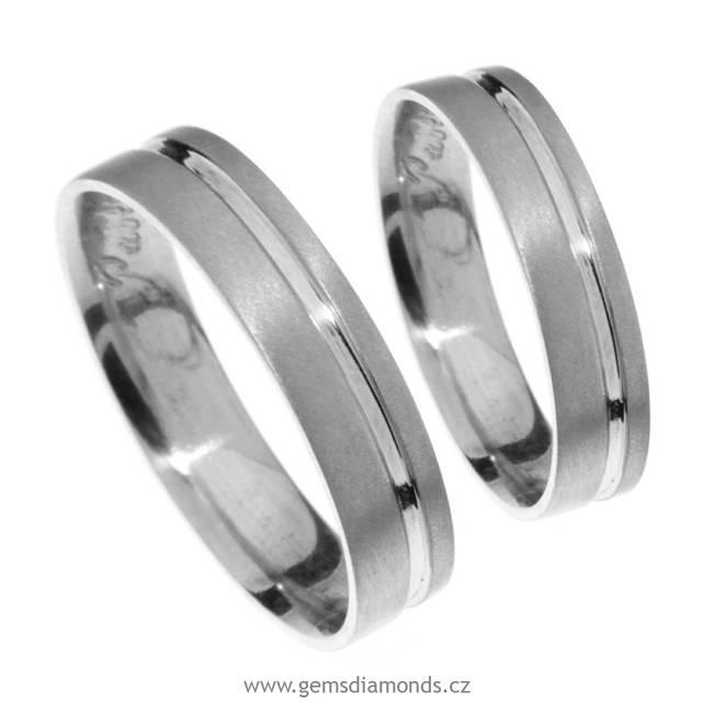 Zlatý snubní prsten Gems Line, 436-0122_0122 z bílého zlata