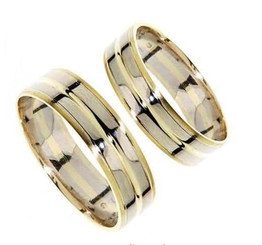 Zlatý snubní prsten GEMS EXCELENT, 436-0232_0232 z bílého a žlutého zlata