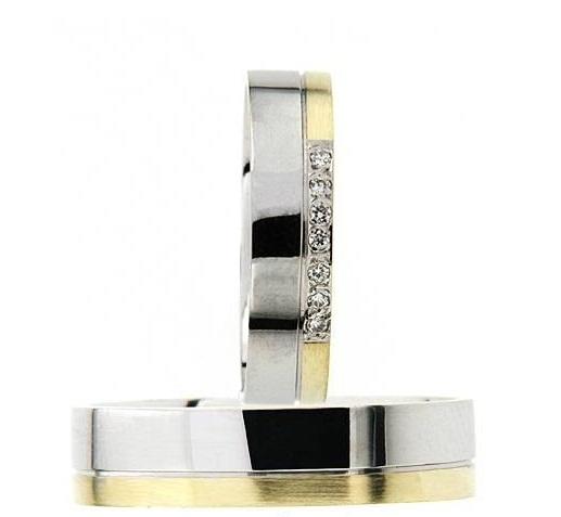 Zlatý snubní prsten GEMS EXCELENT, 436-0615_616 z bílého a žlutého zlata