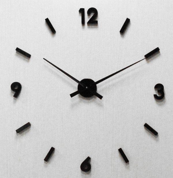 Nalepovací nástěnné ČERNÉ hodiny JVD HW53.4