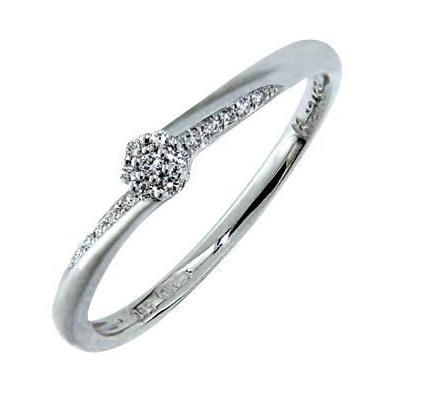 Zásnubní Prsten s diamantem, bílé zlato 386-0738, Gems Saskie
