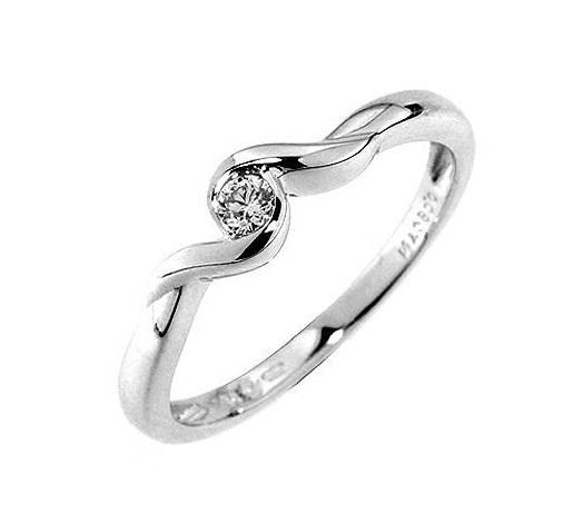Zasnubní prsteny bílé zlato levně