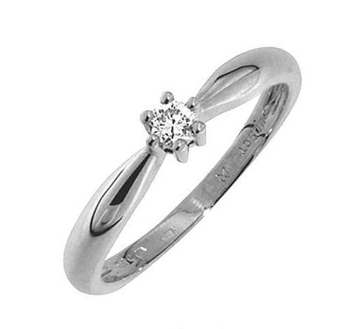 Zásnubní Prsten s diamantem, bílé zlato 386-0221 Gems Denisa