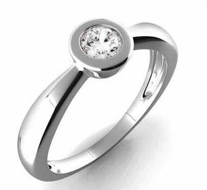 Zásnubní Prsten s diamantem, bílé zlato 386-0178 Gems Věra