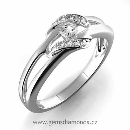 Zasnubni Gems Luxusni Prsten S Diamanty Julie Bile Zlato 386 0151