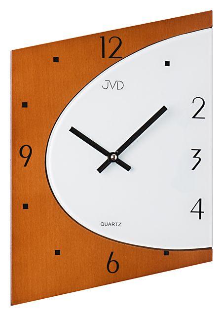Skleněné dřevěné Nástěnné hodiny JVD N1171.41 - NOVINKA