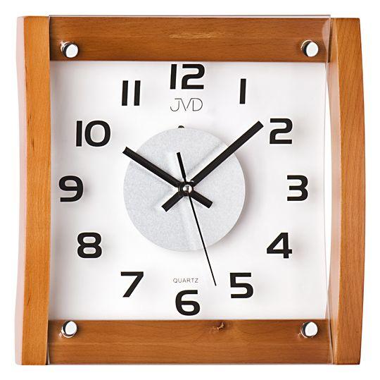 Dřevěné skleněné Nástěnné hodiny JVD N11062.41