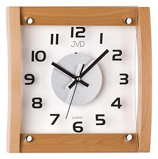 Dřevěné skleněné Nástěnné hodiny JVD N11062.68