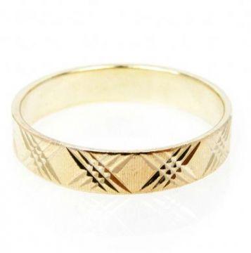 Zlatý snubní prsten č. 7 - 585/2,85g ze žlutého zlata SN5-Soliter 7