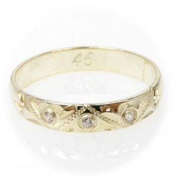Zlatý snubní prsten č. 46 - 585/2,40g ze žlutého zlata SN5-Soliter 46