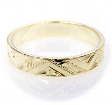 Zlatý snubní prsten č. 62 - 585/2,90g ze žlutého zlata SN5-Soliter 62