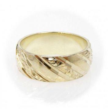 Zlatý snubní prsten č. 182 - 585/6,70g ze žlutého zlata SN5-Soliter 82