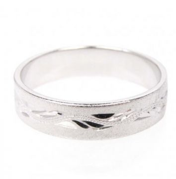 Zlatý snubní prsten č. 297 - 585/3,60g z bílého zlata SN5-Soliter 297