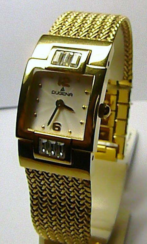 Německé značkové ocelové luxusní dámské hodinky DUGENA