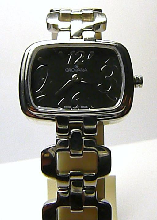 Značkové švýcarské ocelové luxusní dámské hodinky GROVANA se safírovým sklíčkem
