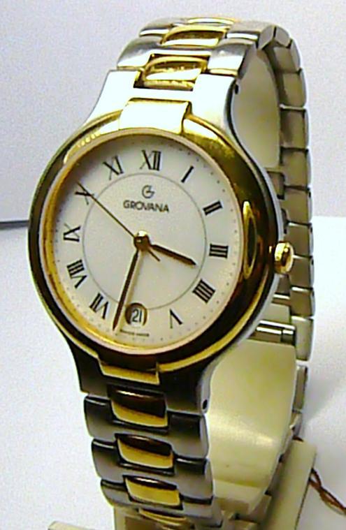 Luxusní švýcarské ocelové pánské hodinky GROVANA 2047.1143