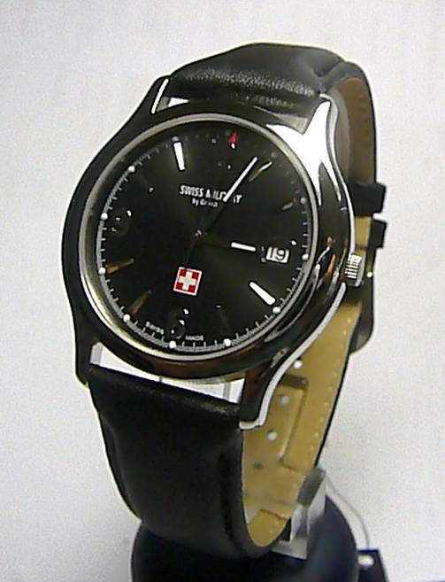 Luxusní švýcarské ocelové značkové hodinky GROVANA SWISS MILITARY 1207.1137SM