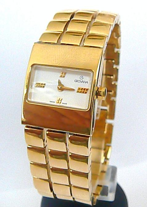Dámské luxusní společenské švýcarské hodinky Grovana 4430.1 se safírovým sklem