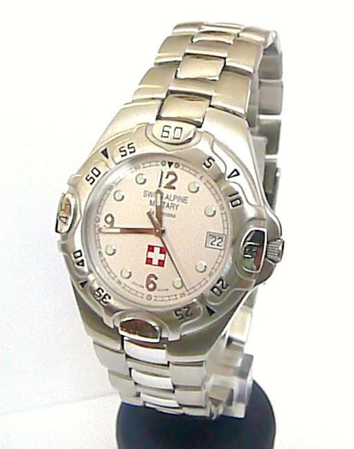 Ocelové švýcarské značkové hodinky Grovana Swiss Alpine Military 1526.1137