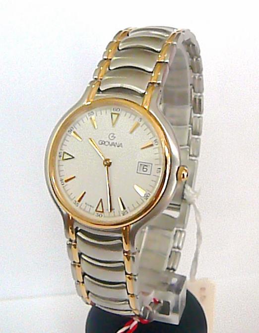 65f00bb08af Luxusní ocelové švýcarské značkové hodinky Grovana 1513.1 - bicolor