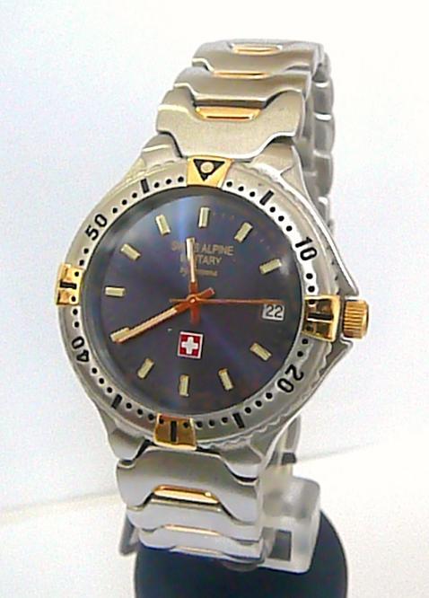 Luxusní švýcarské značkové vodotěsné hodinky Grovana Swiss Alpine Military 2073.
