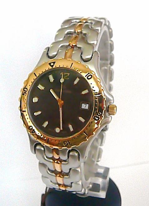 Společenské luxusní švýcarské bicolor hodinky Grovana se safírovým sklem 1512.1
