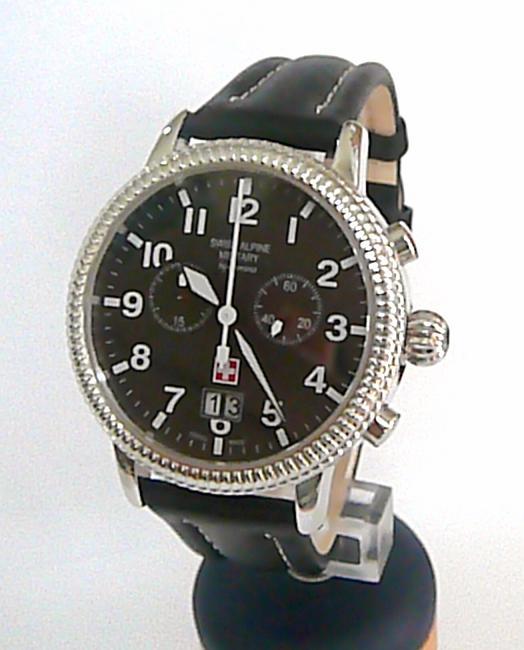 Luxusní pánský švýcarský chronograf - hodinky Grovana 7020.9537 Swiss Alpine Mil