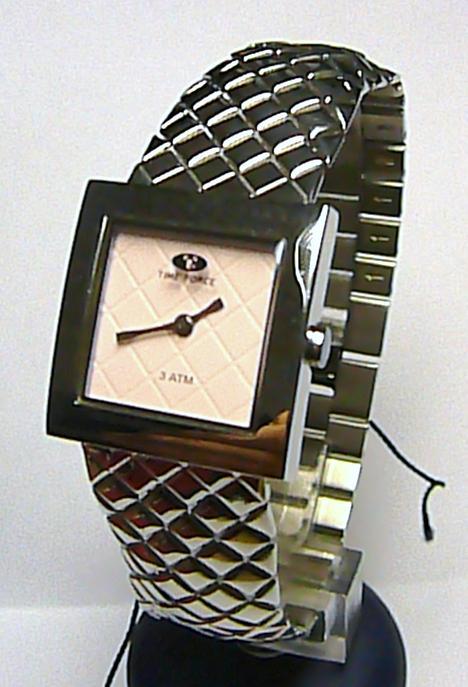 Dámské stříbrné luxusní hodinky TIME FORCE 2049L s růžovým číselníkem