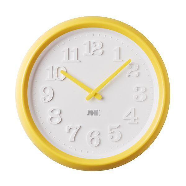 Žluté dětské nástěnné hodiny JVD TIME H101.2