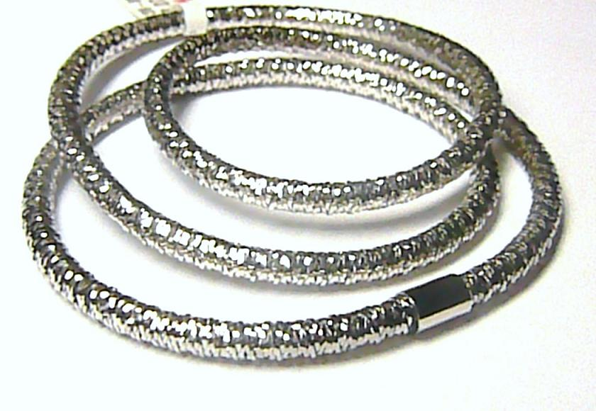Luxusní módní natahovací náhrdelník nebo náramek z bílého zlata 3,07gr P014 NOV