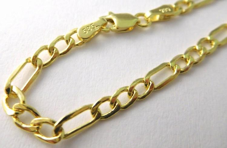 44381b00c Masivní mohutný zlatý náramek FIGARO šíře 3,15mm 19cm 585/1,77gr 3640250