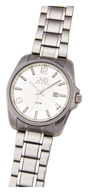 27f3d182b1b Ocelové nerezové náramkové hodinky JVD steel H05.2 s kalendářem - 5ATM