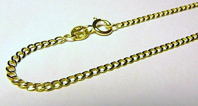 Mohutný pevný zlatý řetízek (očka) délka 50cm 585/2,79gr H195