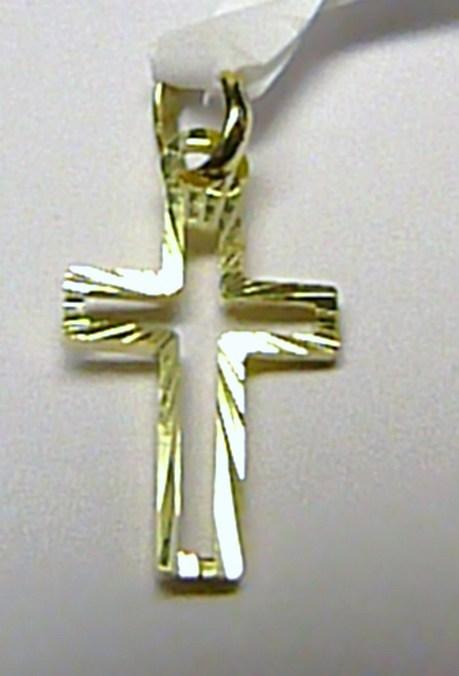 Zlatý křížek - zlatý přívěsek s gravírováním 585/0,55gr - 16x10mm T131