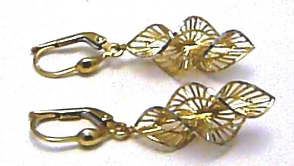 Luxusní mohutné visací točené zlaté exkluzivní náušnice 585/2,77gr H344