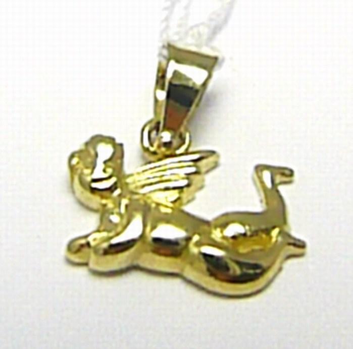 Zlatý andělíček - přívěsek zlatý anděl 585/0,78g H425