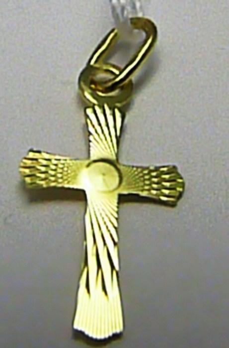 Zlatý přívěsek - zlatý křížek s gravírováním 585/0,40gr Z066