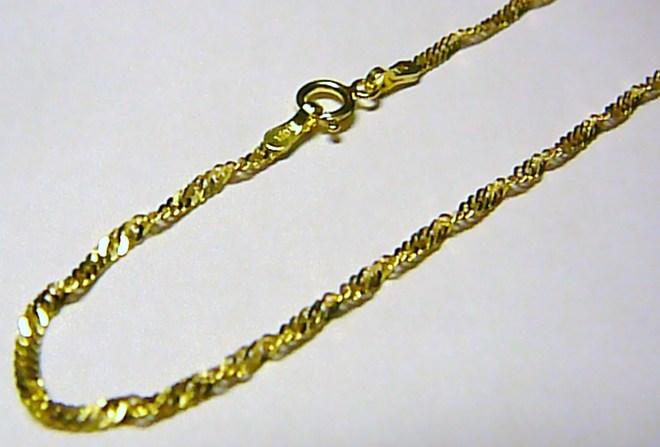 6e79d9bad Moderní točený dámský/dětský zlatý náramek ze žlutého zlata 16cm/0,75gr T167