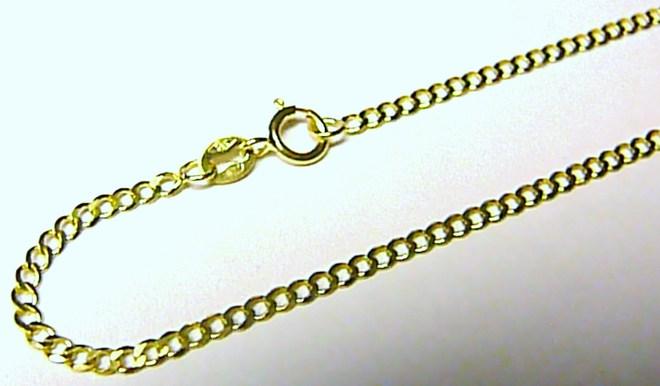 Luxusní mohutný silný zlatý řetízek ze žlutého zlata 585/1,14gr 50cm H553