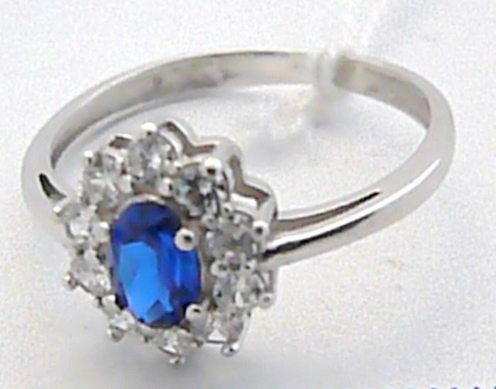 Luxusní zlatý zásnubní prsten s modrým safírem (Kate Middleton) 585/2,3 gr S020 (2,29E+12)